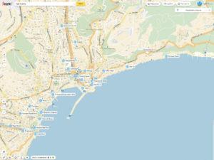 Где поесть в Ялте? Кафе и рестораны, пиццерии и бары в Ялте. map-gde-pokushat-v-yalta-4х3