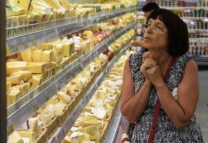 Цены на продукты в Ялте и на материке